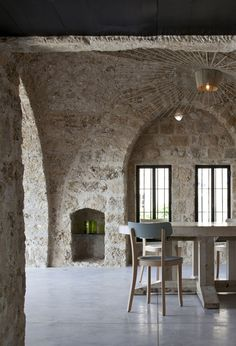 Factory Jaffa House has received a complete contemporary overhaul by Pitsou Kedem Architect of a historic residence located in Old Jaffa, Tel Aviv, Israel.