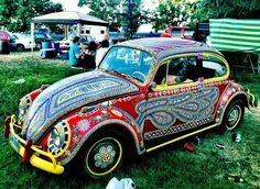 Hand painted car 'What-Festival' Wyoming
