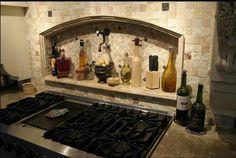unique kitchen backsplash ideas | simple kitchen backsplash with stone and metal tiles