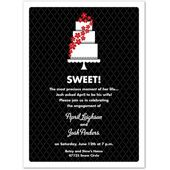 Sweet Cake Red Bridal Luncheon Invitations, 23230