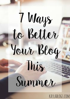 Sharing some tips for semi-new bloggers on how you can better your blog over the summer from becoming self-hosted to participating in Twitter chats! Blogging For Beginners, Blogging Ideas, Email Subject Lines, Blog Names, Blog Love, Gap Year, Blog Planner, Instagram Tips, Social Media Tips