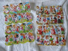 Two Different Sheets Of Vintage West German Die-Cuts With Graphics Of Children- Set #3 by MossyCottage on Etsy