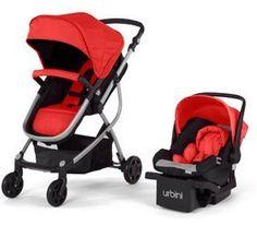 Urbini Baby Stroller Car Seat 3 in 1 Travel System Infant Toddler Jogger Pink Toddler Stroller, Car Seat And Stroller, Travel Stroller, Pram Stroller, Baby Car Seats, Baby Strollers, Infant Toddler, Umbrella Stroller, Jogging Stroller
