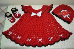 New Jersey Devils outfit by BellasBabyTreasures on Etsy