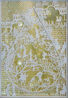 Kayon - by Emma van Leest PAPER ART / ㊙️CUT-PAPER ART / PAPER ART IDEAS✂️More At FOSTERGINGER At Pinterest✂️