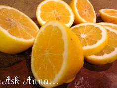 Lemons to clean microwave, garbage disposal, freshen inside of fridge, cutting boards, stainless steel, fruit stains from laundry