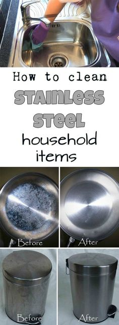 How to clean stainless steel household items