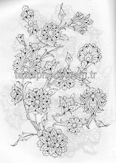70 Ideas For Garden Design Sketch Beautiful Persian Pattern, Persian Motifs, Line Art Flowers, Flower Art, Islamic Art Pattern, Pattern Art, Art Sketches, Art Drawings, Motif Arabesque