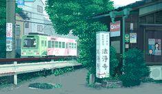 ゲームの場面を思い起こさせるようなドット絵で、日本の平凡にある日常の様子がgifアニメで描かれている。「和+ドット絵+gifアニメ」という組み合わせが絶妙だ。