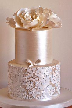 18 Elaborate Fondant Flower Wedding Cakes ❤ See more: http://www.weddingforward.com/fondant-flower-wedding-cakes/ #weddings #cakes