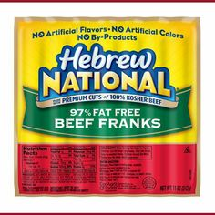 Hebrew National Hot Dogs No Nitrates