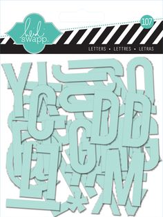 Heidi Swapp - Clear Pop Collection - Clear Alphabet Mint at Scrapbook.com