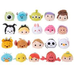 Unreleased Disney Tsum Tsum Plushes - Monster Inc., Toy Story, The Night Before Christmas, and The Little Mermaid
