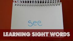 Learning Sight Words from Ready. - Home Schooling İdeas Learning Sight Words, Sight Word Activities, Book Activities, Homeschool Kindergarten, Preschool At Home, Homemade Books, Teaching Aids, Early Literacy, Reading Resources