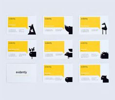 Changing locations / adding icons / Branding / business cards and characters for each location / Evidently Design