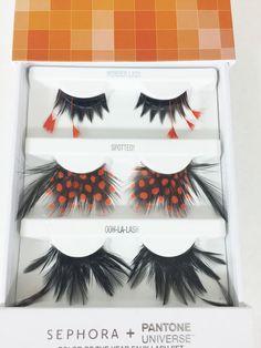Eye Lashes Pantone Universe Drag Halloween Exotic Sephora Tangerine Tango Faux | Health & Beauty, Makeup, Eyes | eBay!
