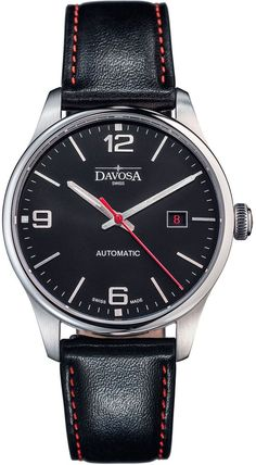 Davosa Watch Gentlemans Classic #add-content #bezel-fixed #bracelet-strap-leather #brand-davosa #case-depth-9-8mm #case-material-steel #case-width-40mm #classic #date-yes #delivery-timescale-1-2-weeks #dial-colour-black #gender-mens #limited-code #movement-automatic #new-product-yes #official-stockist-for-davosa-watches #packaging-davosa-watch-packaging #style-dress #subcat-gentleman #supplier-model-no-16156654 #warranty-davosa-official-2-year-guarantee #water-resistant-50m