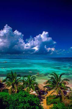 The Caribbean Sea off Cancun, Mexico