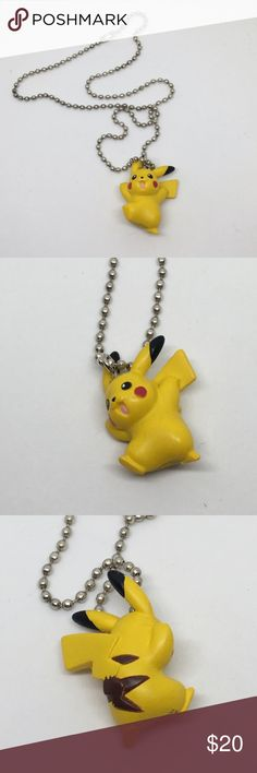 🆕Vintage Pikachu! From the original Pokemon! Love Pokemon Go? This is the original Pikachu from the time when we played the card game, not the app! He's in excellent condition, strung on a simple chain and ready to help you hunt for his friends. Gotta Catch 'Em All!! Vintage Jewelry Necklaces