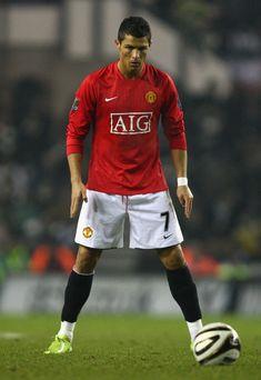 Cristiano Ronaldo in Derby County v Manchester United - Carling Cup Semi Final…