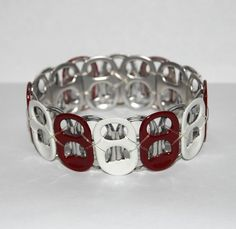 Roll Tide!  former can tabs. fun way to make colored bracelets with all the different colored can tops these days.