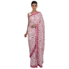 Buy authentic parsi gara hand embroidered sarees online from India. Talkingthreads crafts luxury parsi gara hand embroidered crepe sarees and georgette sarees.