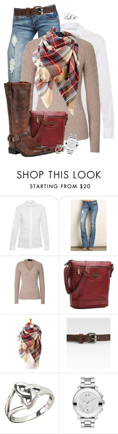 """""""Weekend Casual"""" by tmlstyle ❤ liked on Polyvore featuring WALTER VOULAZ, Polo Ralph Lauren, b.o.c. Børn Concept, Durango, Weekend Max Mara and Movado"""