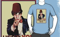 The Doctor Wants YOU... T-Shirt by Adam de la Mare  This parody of the infamous Uncle Sam poster is for all you Doctor Who fans out there! ......Available online at www.brotheradam.com.au ... The best place for funny, cool, parody, geek, topical, music, retro and just plain ridiculous t-shirts!