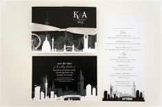 Bring all those special places together in this skyline themed stationery design.