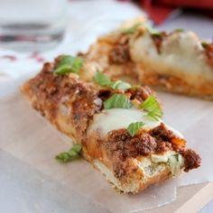 Lasagna Bread Pizza- i used my homemade spaghetti sauce- it was very good.  kids liked it alot.