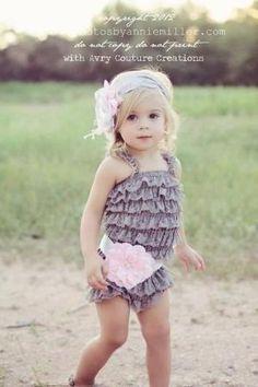 Baby Lace Romper-Lace Romper-Ruffle Romper-Lace Petti Romper-Baby -Toddler-Photo Prop by corina