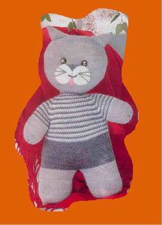 Un chat en tenue de sport Copié Grey Cats, Amigurumi Doll, Stuffed Toys Patterns, Smurfs, Christmas Stockings, Diy And Crafts, Knit Crochet, Dinosaur Stuffed Animal, Teddy Bear