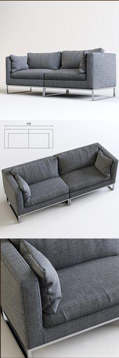 3d модели: Диваны - Диван двухместный