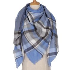 2017 Brand Designer Winter Scarf For Women Cashmere Autumn Fashion Warm Large Triangle Shawl Plaid Wool Blanket Wholesale M837