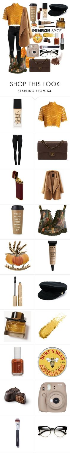 """""""warm day"""" by ellen-frisk ❤ liked on Polyvore featuring NARS Cosmetics, Boohoo, J Brand, Chanel, WithChic, Kate Spade, Dr. Martens, NYX, Stila and Manokhi"""