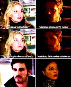 Parallels. Hook & Emma and Robin & Regina.