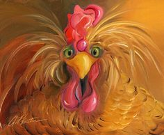 Billedresultat for amy hautman Rooster Painting, Rooster Art, Tole Painting, Painting & Drawing, Chicken Painting, Chicken Art, Chicken Pictures, Chickens And Roosters, Pics Art