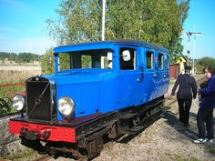 Petrol railbus at the Eastern Södermanlands Railway, ÖSlJ, a narrow-gauge museum railway in typical time environment in Sweden Old Ford Pickups, Royse City, Rail Car, Old Trains, Great Western, Bus, Train Set, Retro Cars, Model Trains