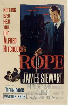 "Hitchcock's ""Rope""! Freaking crazy, plus based on a true story!"