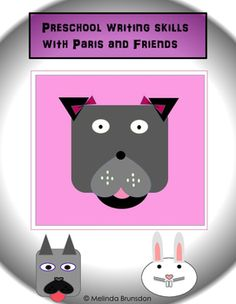 Have fun while learning fine motor skills with a pretty puppy named Paris who loves learning at MrsBees Classroom. A simple but effective way to help children learn beginning writing skills by using dotted lines and their love to color. This four page skill builder is colorful, fun, and easy to understand.
