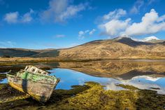 Isle of Mull, Scotland ~ From the rugged ridges of Ben More and the black basalt crags of Burg to the blinding white sand, rose-pink granite and emerald waters that fringe...