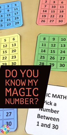 Want to show off a little 'magic' with numbers in math class tomorrow? Learn how to do this amazing magic math trick and get your FREE printable Magic Math cards to use at Games4Gains.com.