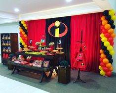 ideas for cars decoracion fiesta 6th Birthday Parties, Birthday Bash, Birthday Party Decorations, Incredibles Birthday Party, Baby Boy Birthday, The Incredibles, Diy, Baby Shower, Birthdays