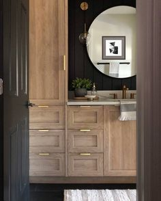 5 Bathrooms Featuring Chris Loves Julia's Cove Cabinets - SemiStories