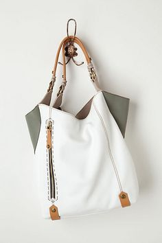 white corner color tote for spring
