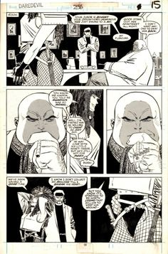 A page from Daredevil by John Romita Jr. and Al Williamson. Comic Book Drawing, Comic Books Art, Comic Art, Marvel Comic Universe, Comics Universe, Marvel Comics, Frank Miller Art, Daredevil Art, John Romita Jr