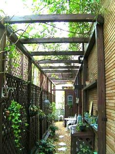 Pergola At Home Depot Referral: 4390354149 Small Gardens, Outdoor Gardens, Pergola Patio, Backyard, Garden Huts, Side Yard Landscaping, Diy Shutters, Garden Deco, Side Garden