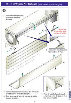Page 9. Cette notice vous explique comment poser votre volet roulant en kit vous-même.  Prix d'usine sur Gefradis.fr.