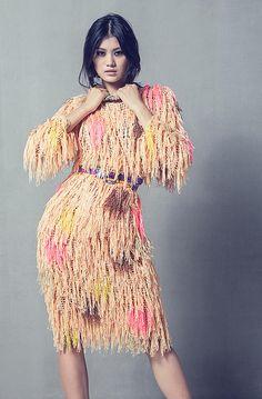 fringe #crochet #fashion dress celiab