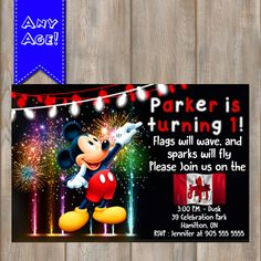 1st OF JULY INVITATION Birthday Invitation by KidzPartyPrintables